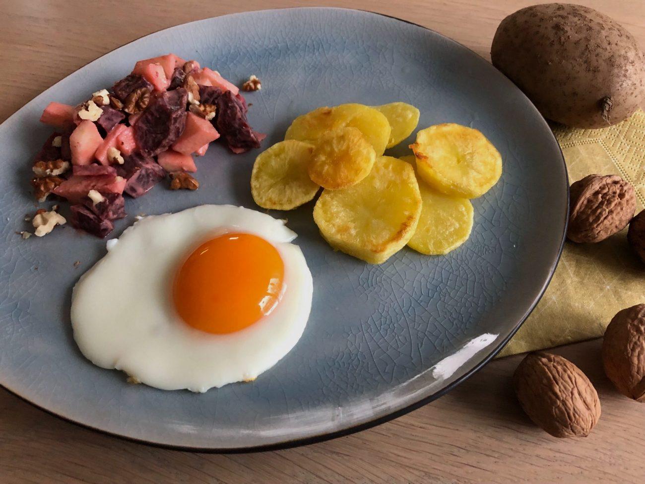Bratkartoffeln mit Rote-Bete-Apfel-Salat