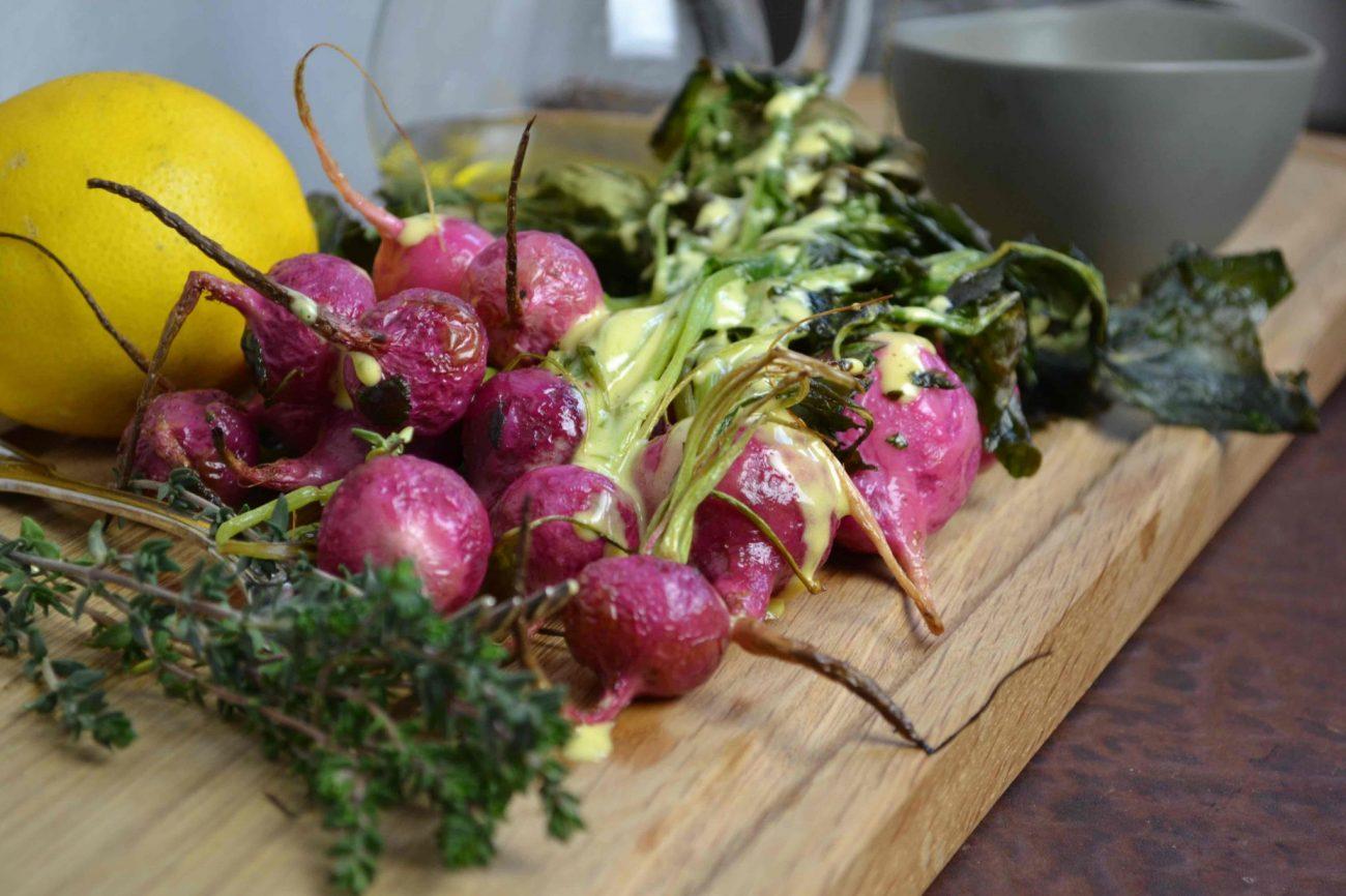 Radieschen aus dem Ofen mit Kaiser-Karls-Dip