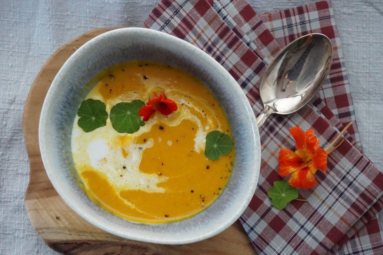 Raffinierte Kürbissuppe